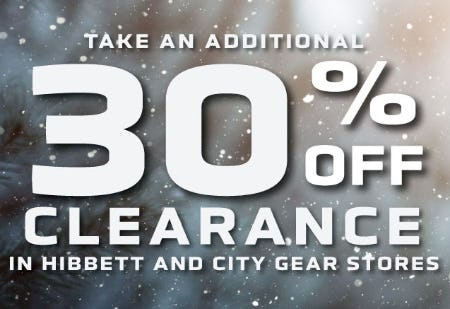 Additional 30% Off Clearance from Hibbett Sports