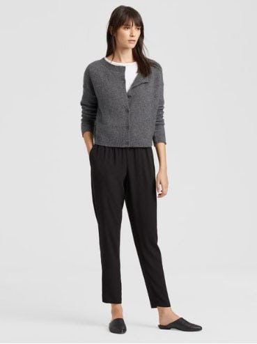 Cashmere Silk Short Cardigan from Eileen Fisher