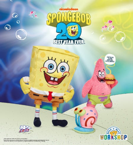 Are You Ready, Kids? SpongeBob SquarePants is at Build-A-Bear Workshop!®