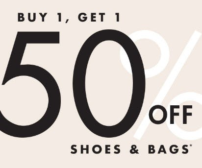 BOGO 50% Off Shoes & Bags from DSW Shoes
