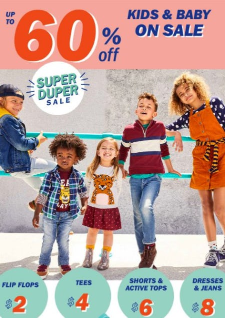 Kids & Baby on Sale up to 60% Off from Old Navy