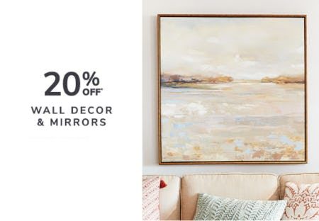 20% Off Wall Decor & Mirrors from Pier 1 Imports