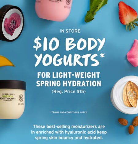 $10 Body Yogurts from The Body Shop