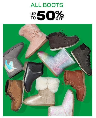 All Boots up to 50% Off from The Children's Place Gymboree