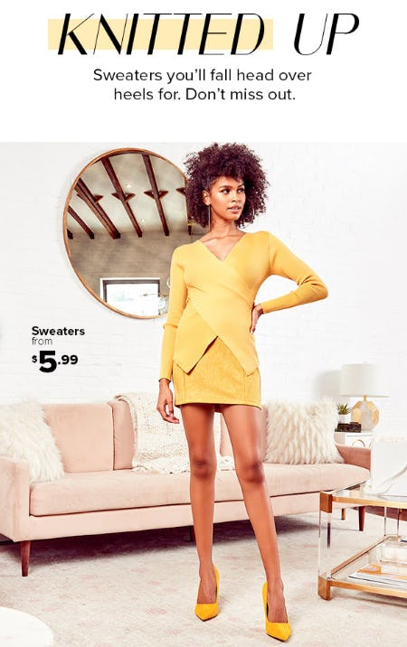 Sweaters from $5.99 from Rainbow