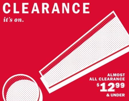 Almost All Clearance $12.99 & Under