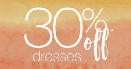 30% Off All Regular Price Dresses from maurices
