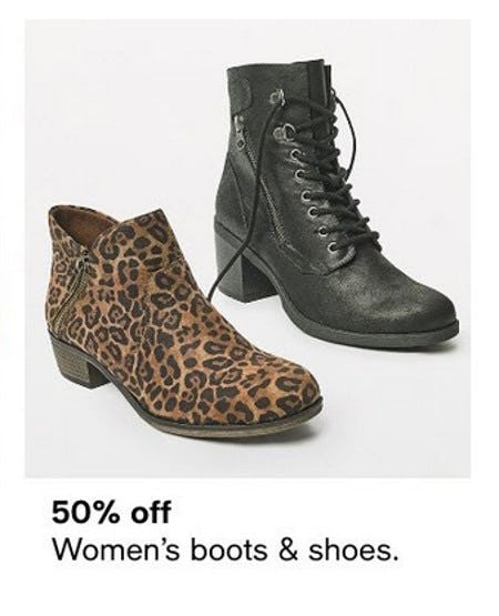 50% Off Women's Boots & Shoes from macy's