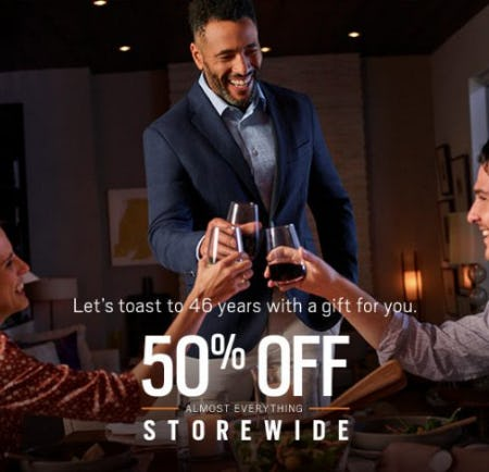 Anniversary Sale 50% Off Almost Everything from Men's Wearhouse