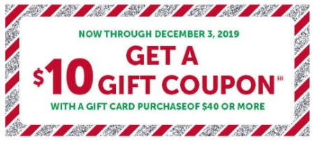 Get a $10 Gift Coupon