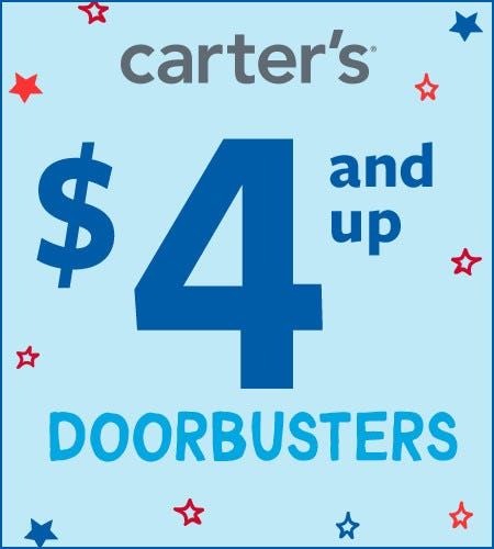 $4 and up Doorbusters from Carter's