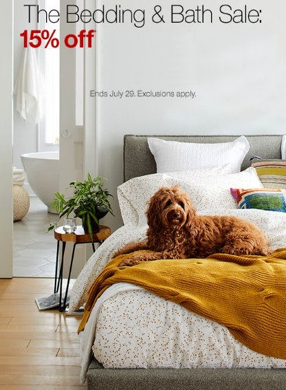The Bedding & Bath Sale from Crate & Barrel