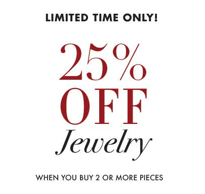 25% Off Jewelry When You Buy 2 or More Pieces from Henri Bendel