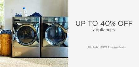 Up to 40% Off Appliances from Sears