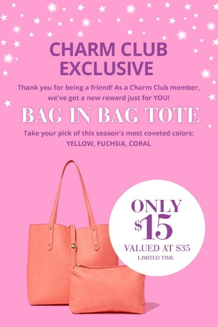 Charm Club Exclusive Offer from Charming Charlie