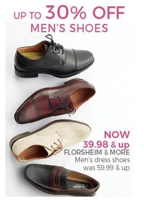 Up to 30% Off Men's Shoes from Stein Mart