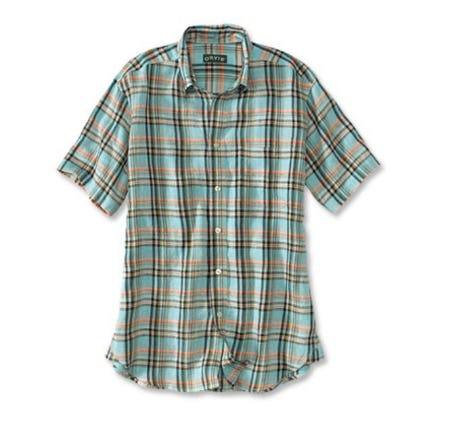 Linen Patterned Short-Sleeved Shirt from Orvis