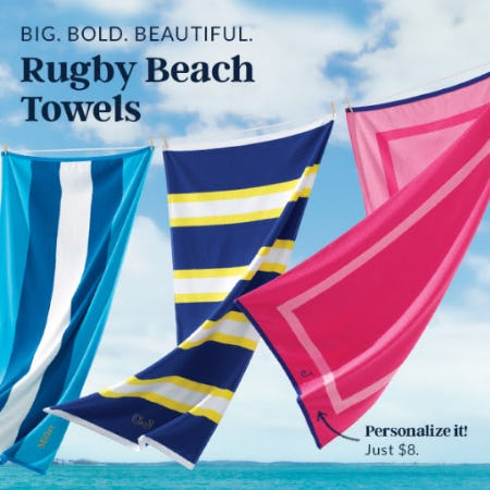 The Rugby Beach Towels from Lands' End