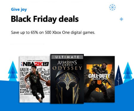 Save Up to 65% on 500 Xbox One Digital Games from Microsoft