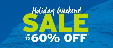Up to 60% Off Holiday Weekend Sale