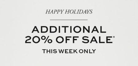 Additional 20% Off Sale from Tory Burch