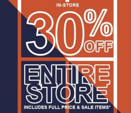 30% Off Entire Store from Lacoste