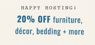 20% Off Furniture, Decor & More