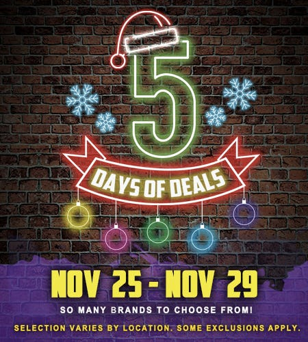 5 Days of Deals!
