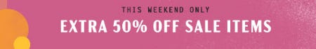 Extra 50% Off Sale from Anthropologie
