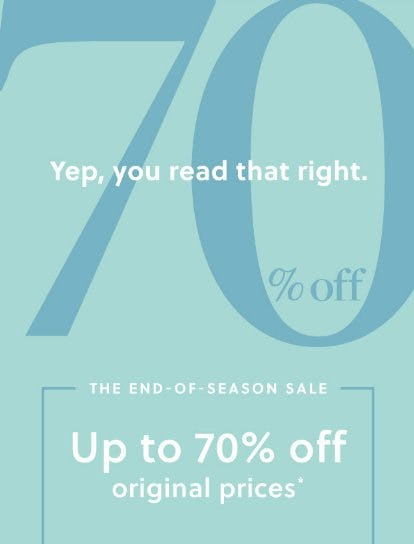 End-of-Season Sale up to 70% Off from J.Crew
