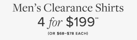 Men's Clearance Shirts 4 for $199
