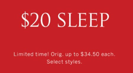 $20 Sleep from Victoria's Secret