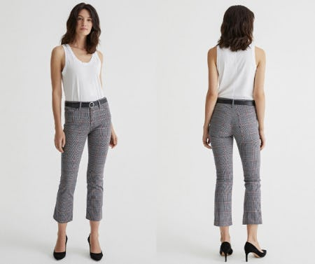 The Jodi High Rise Flare Crop from Ag Jeans