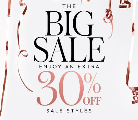 Extra 30% Off The Big Sale