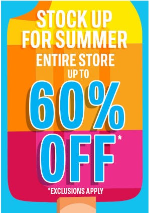 Entire Store up to 60% Off from The Children's Place