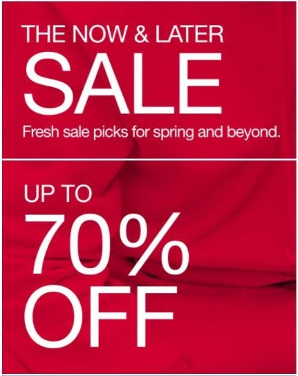 The Now and Later Sale: Up to 70% Off from Gap
