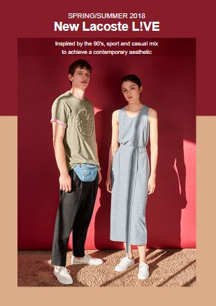 The New L!VE Collection from Lacoste