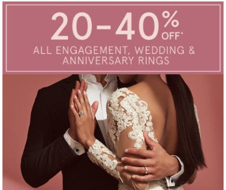 20-40% Off All Engagement, Wedding & Anniversary Rings