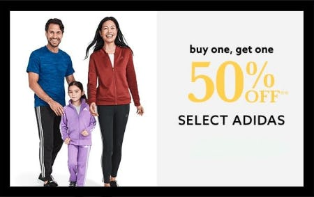 BOGO 50% Off Select Adidas from Lord & Taylor