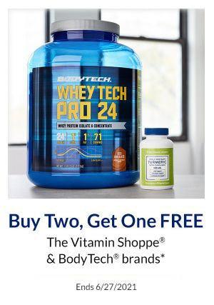 B2G1 Free The Vitamin Shoppe & BodyTech Brands from The Vitamin Shoppe