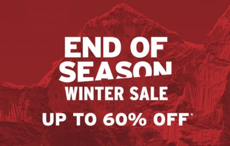 End of Season Winter Sale: Up to 60% Off