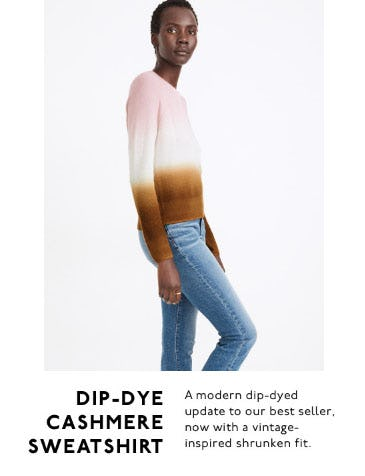 Dip-Dye Cashmere Sweatshirt from Madewell