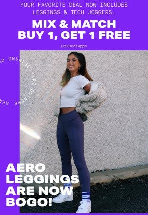 Leggings & Tech Joggers Buy 1, Get 1 Free