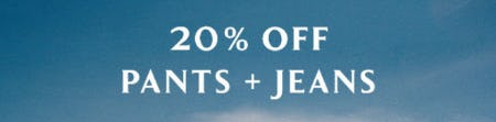 20% Off Pants & Jeans from Anthropologie