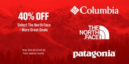 40% Off Select The North Face