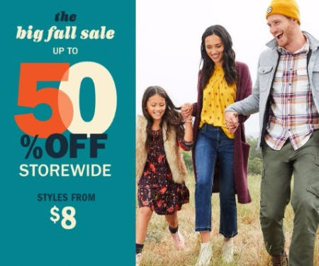 The Big Fall Sale up to 50% Off