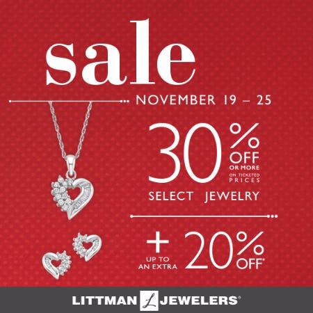 Littman Jewelers Thanksgiving Week Sale
