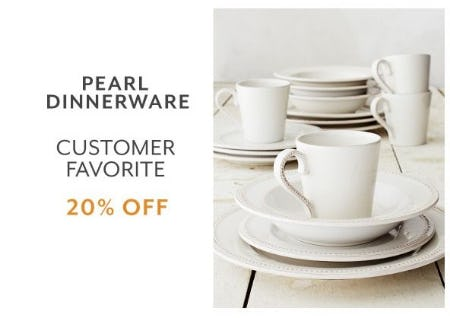 20% Off Pearl Dinnerware from Sur La Table