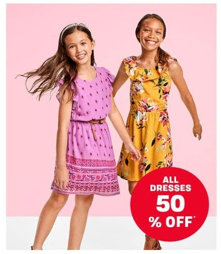 All Dresses 50% Off from The Children's Place