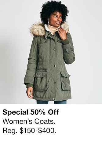 50% Off Women's Coats from Macy's Men's & Home & Childrens